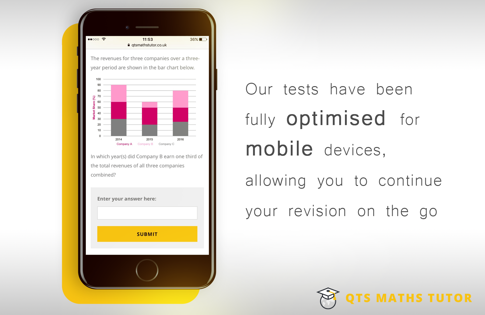 Mobile optimised numeracy skills tests