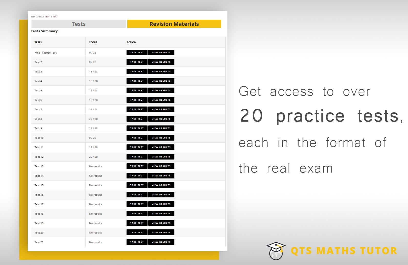 20 Numeracy skills tests